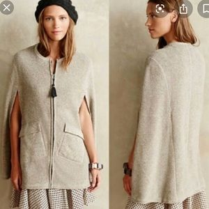 Anthropologie Whimbrel Cape